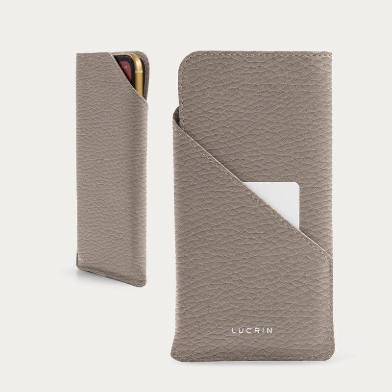 Custodia di design per iPhone 11 Pro - Taupe chiaro - Pelle Ruvida