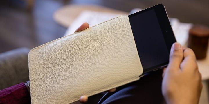 Custodia Protettiva per iPad Mini - Avorio - Pelle Ruvida