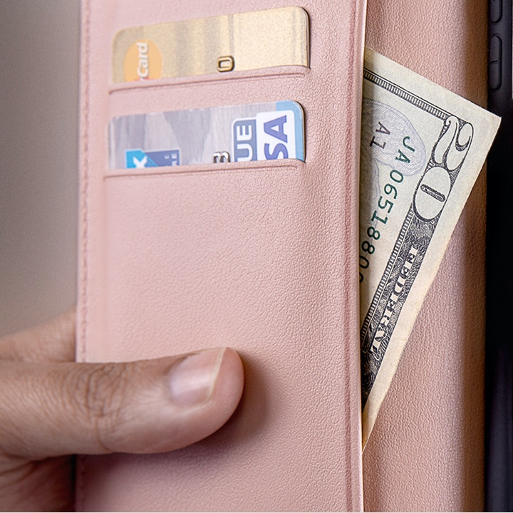 Custodia a portafoglio per iPhone 11 Pro Max - Nude - Pelle Liscia