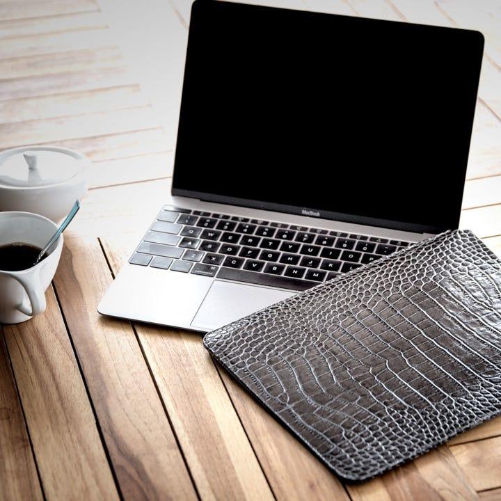 Custodia per MacBook - Arancione - Pelle Ruvida