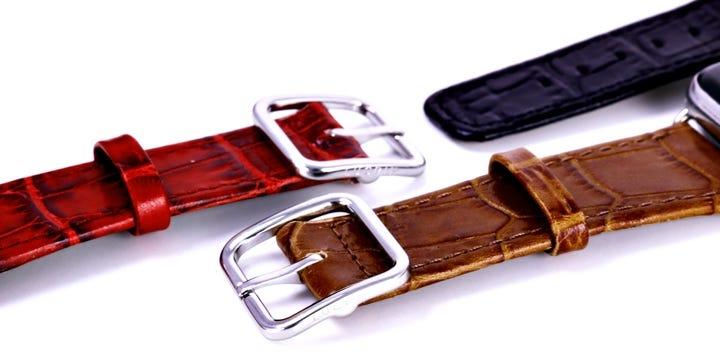 Cinturino elegante per Apple Watch Series 5  - (44 mm) - Camello - Pelle imitazione coccodrillo