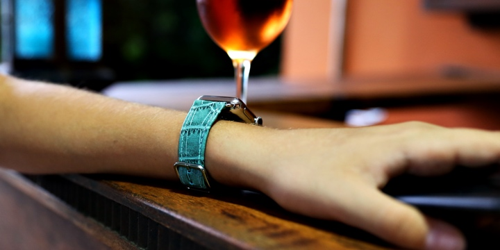 Cinturino per Apple Watch Series 5 - (40 mm) - Turchese - Pelle imitazione coccodrillo